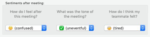 Screenshot of Digamo's sentiment capture interface