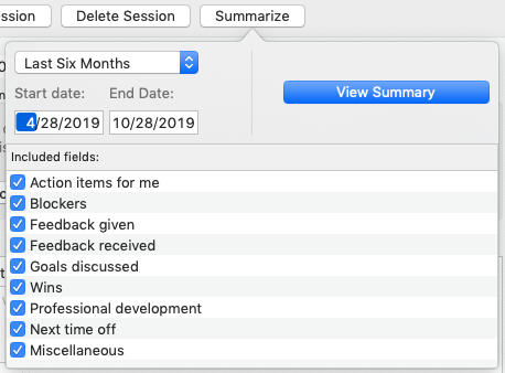 Screenshot of Digamo's summary generator.